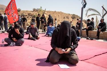 اقامه عزای جاماندگان اربعین حسینی در دانشگاه شیراز