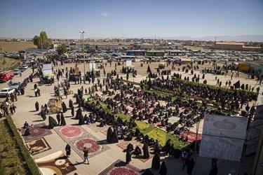 مراسم جاماندگان اربعین در امامزاده سیدصدرالدین اردیبل