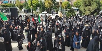 پیادهروی جاماندگان اربعین حسینی در شهر پرند برگزار شد