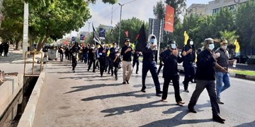 پیادهروی جاماندههای اربعین در بندرعباس+فیلم و عکس