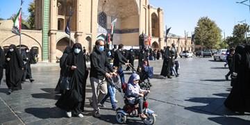 راهپیمایی جاماندگان اربعین در قزوین/ به تو از دور سلام
