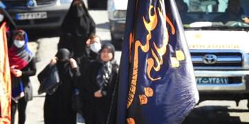 فیلم  پیادهروی جاماندگان اربعین حسینی در گیلان