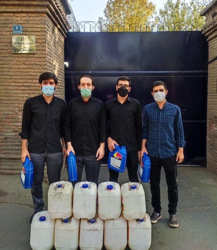 14000710000263 Test NewPhotoFree - اقدام نمادین دانشجویان بسیجی/ اهدای سوخت به سفارت انگلیس!