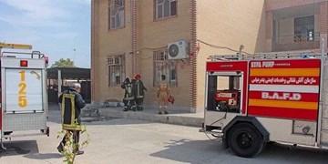 آتش سوزی در یک مدرسه در بندرعباس