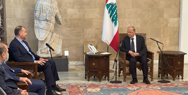 وزیر امور خارجه ایران با رئیسجمهور لبنان دیدار کرد + فیلم