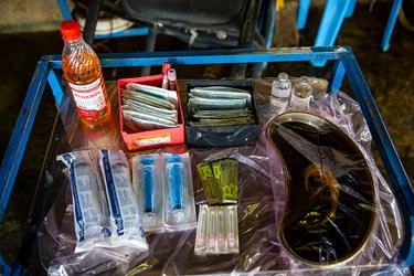 تجهیزات مورد استفاده برای جراحی های عمومی دام در شرکت دامداری تلیسه نمونه