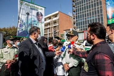 سردار حسین رحیمی فرمانده پلیس تهران در جمع اصحاب رسانه