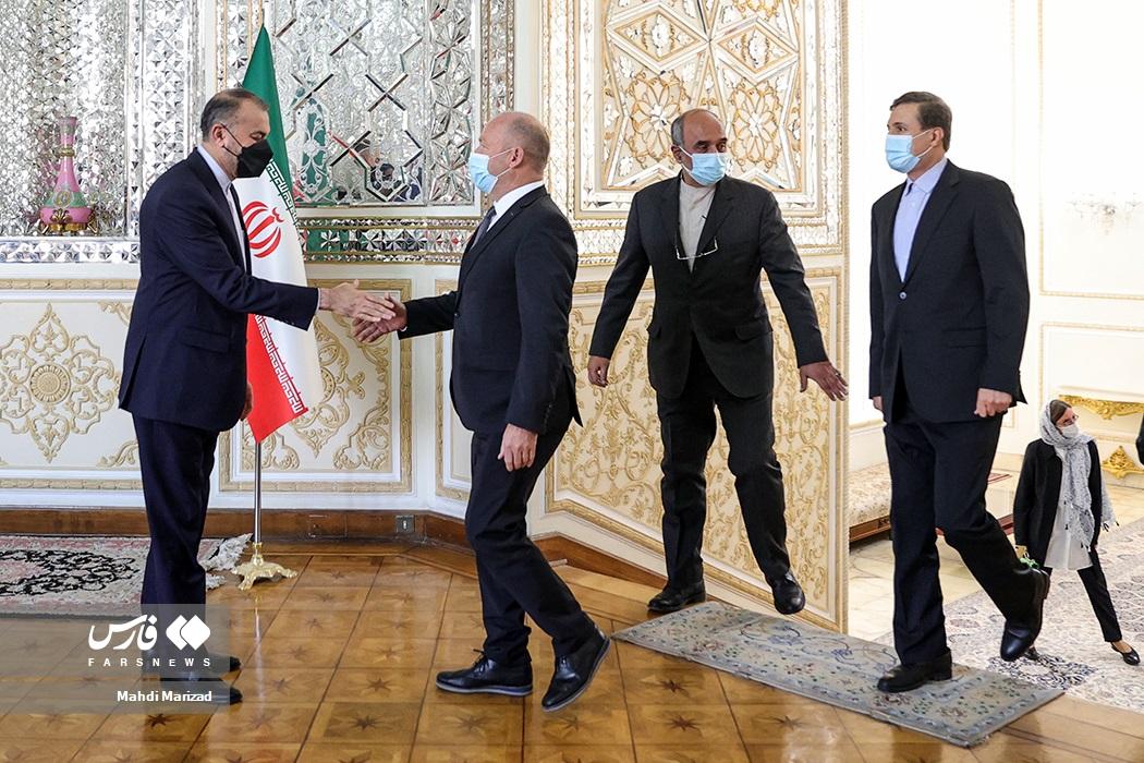 دیدارآندریاس ایبی رئیس مجلس شورای ملی سوئیس و هیات همراه با حسین امیرعبداللهیان وزیر امور خارجه