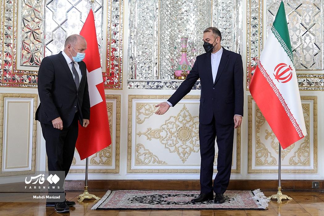 دیدارآندریاس ایبی رئیس مجلس شورای ملی سوئیس با حسین امیرعبداللهیان وزیر امور خارجه