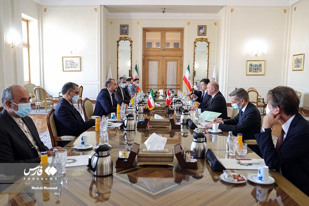 آندریاس ایبی رئیس مجلس شورای ملی سوئیس و هیات همراه در دیدار با حسین امیرعبداللهیان وزیر امور خارجه