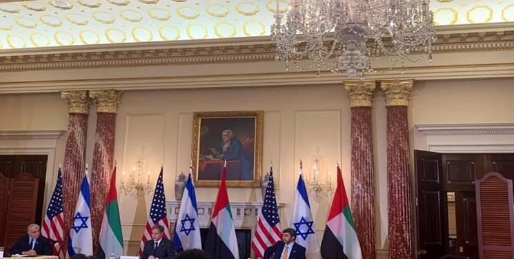 Reunión conjunta de ministros de Relaciones Exteriores de EE. UU., Emiratos Árabes Unidos y sionistas en Washington