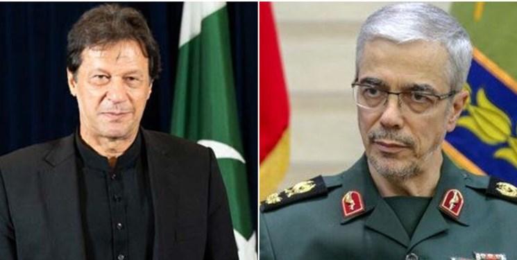رایزنی سرلشکر باقری و نخستوزیر پاکستان درباره آخرین تحولات امنیتی منطقه