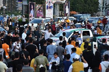 لحظه ورود محمدهادی ساروی مدال آور طلای جهان به زادگاهش