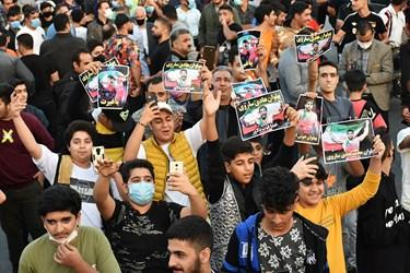 شادی وصف نشدنی مردم شهرستان آمل هنگام ورود قهرمان کشتیفرنگی جهان محمدهادی ساروی به زادگاهش