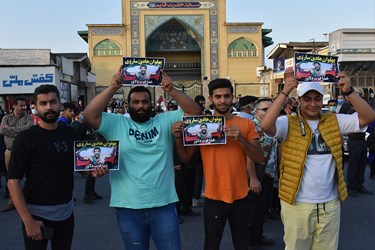 شور و شعف مردم شهرستان آمل هنگام ورود قهرمان طلاییشان به شهرستان قهرمان پرور آمل