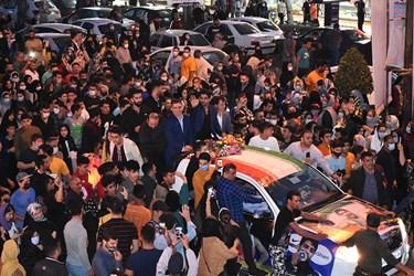 استقبال باشکوه مردم آمل از قهرمان جهانی شهرشان