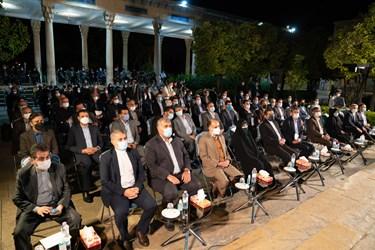 حضور وزیر فرهنگ و ارشاد اسلامی و مسئولان کشوری و استانی در مراسم بزرگداشت یادروز حافظ شیرازی