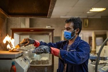 آزمایش بر روی سیمان تولید شده در کارخانه سیمان تهران