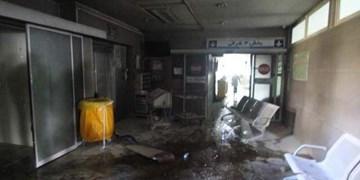 بیمارستان «دی» دچار حریق شد