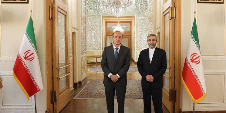 دیدار و گفتوگوی «انریکه مورا» با علی باقری در تهران + تصاویر