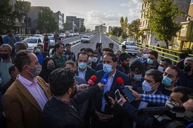 سخنرانی محمود صفری شهردار اردبیل در افتتاح عرشه اصلی پل قدس