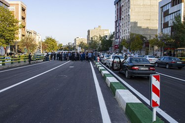 افتتاح عرشه اصلی پل قدس اردبیل