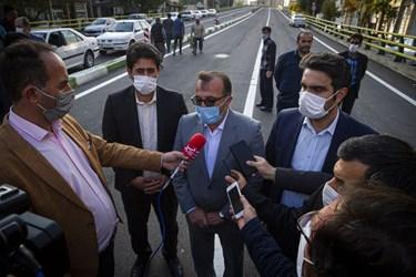 سخنرانی جواد انصاری رئیس شورای اسلامی شهر اردبیل در افتتاح عرشه اصلی پل قدس