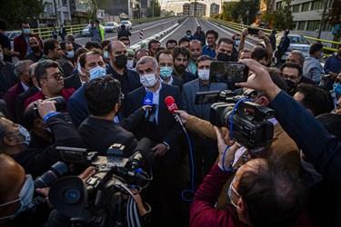 سخنرانی دکتر علی نیکزاد نایب رییس مجلس شورای اسلامی در افتتاح عرشه اصلی پل قدس