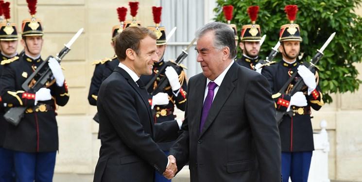 دیدار روسای جمهور تاجیکستان و فرانسه در «پاریس»