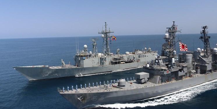 رزمایش نظامی اتحادیه اروپا و ژاپن در دریای عمان