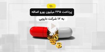 پرداخت ۲۳۵ میلیون یورو اضافه به ۱۲ شرکت دارویی