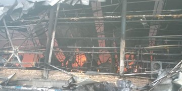 خسارت 50 هزار میلیارد ریالی در پی آتش سوزی در شرکت طبیعت+ فیلم و عکس
