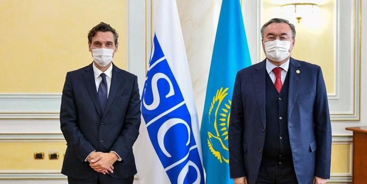 دیدار وزیر خارجه قزاقستان و مدیر دفتر نهادهای دموکراتیک و حقوق بشر اتحادیه اروپا
