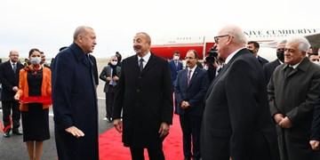 علیاف در قرهباغ از اردوغان استقبال کرد+عکس