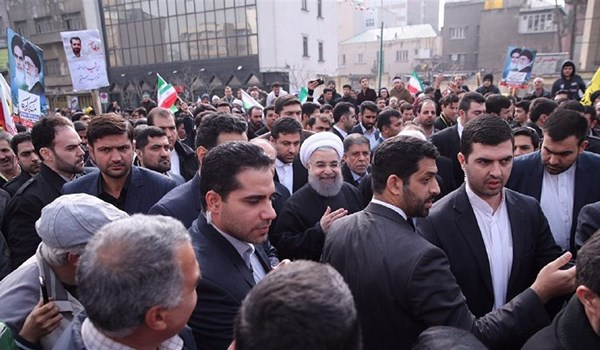 Rouhani: Mass-Participation of Iranians in Feb. 11 Rallies Best Response to US Crimes