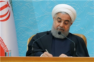 Iranian President Communicates Law to Confront Hostile Acts of Zionists against Peace, Security