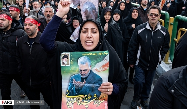 Iranian People Vow Harsh Revenge for Assassination of Gen. Soleimani, Efforts to Expel US from Region