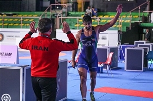 Iranian Wrestler Wins Gold in Italy's Freestyle Tournament