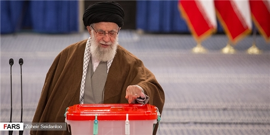 Supreme Leader Casts Vote for Parliamentary, Assembly of Experts Elections