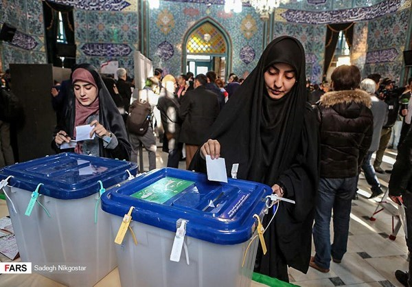 Iranian women cast their votes in Tehran