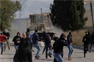 Two Palestinians Survive Israeli Bulldozer Attack in Kufr Qadoom