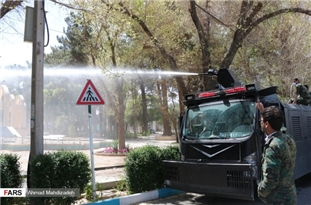 Iranian Armed Forces Disinfecting Public Places in Many Cities against COVID-19