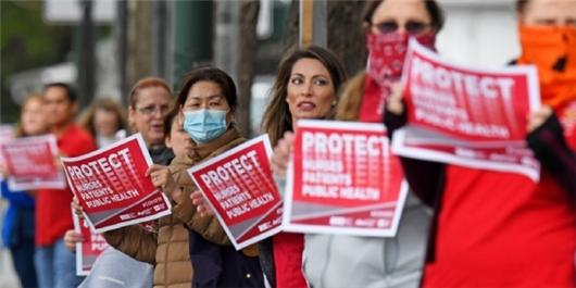 اعتراض پرستاران در آمریکا