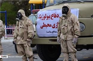 IRGC's Ground Force Staging Bio-Defense Drill in Abarkuh, Yazd