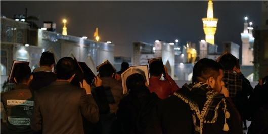 شرکت در مراسم شب قدر