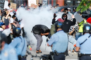 Fires Erupt in Minneapolis Aamid Growing Protests over George Floyd's Death