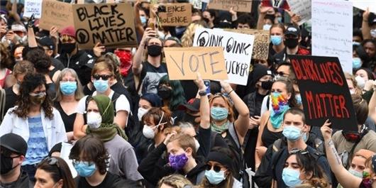تظاهرات آمریکا نیویورک