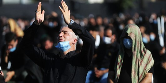 Iranian People Held Tasua Mourning Ceremonies across Country Under COVID-19 Health Protocol
