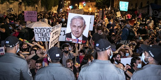تظاهرات اسراییل سایت انگلیسی