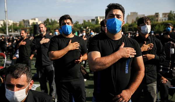 Iranians Commemorate Imam Hossein (AS) Martyrdom Anniversary Watching Hygiene Protocols